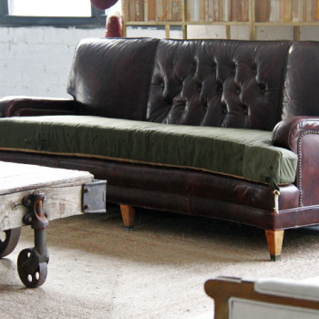 Here's the finished sofa with the new cushion
