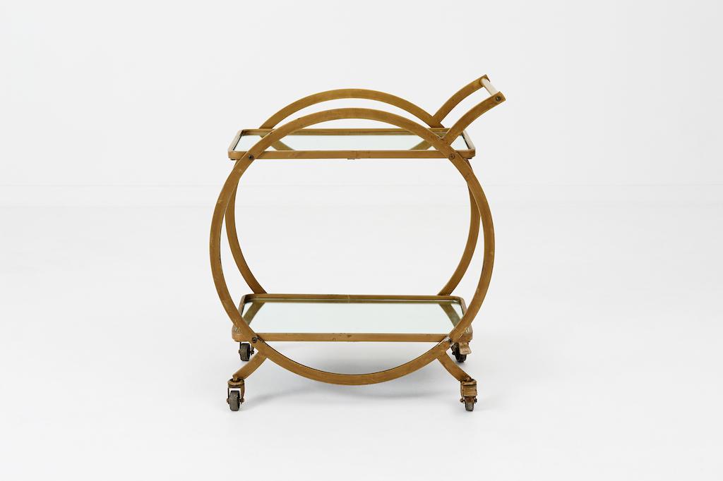 Circle Bar Cart Patina